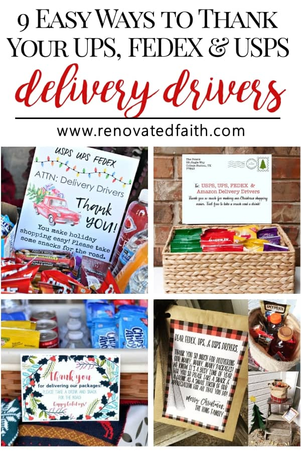 delivery driver snack printables