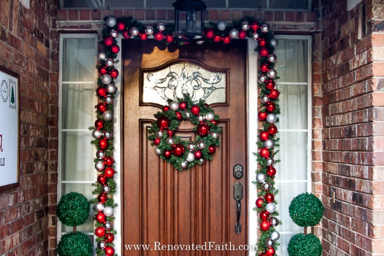EASY Christmas Front Porch Ideas on a Budget!