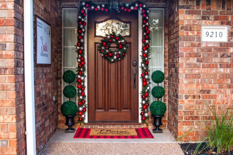 Pottery Barn Inspired DIY Ornament Wreath and Garland (For a FRACTION of the Cost!)