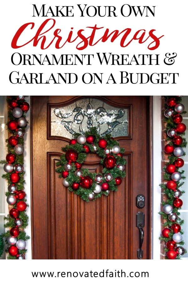 diy ornament wreath and garland