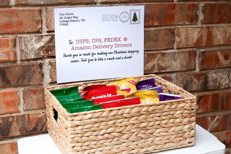 The Best Delivery Driver Snack Ideas {Free Printables!}