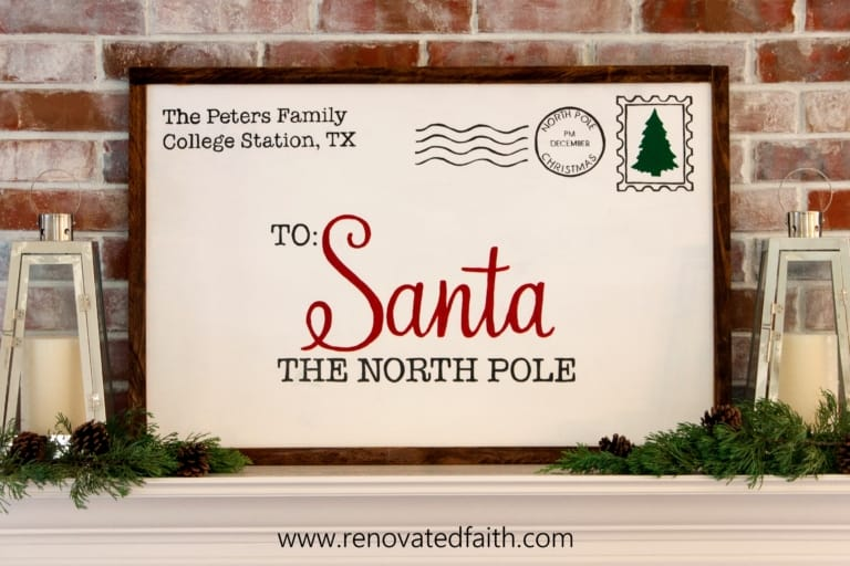 DIY Letter to Santa Sign Tutorial {No Cricut Required!}