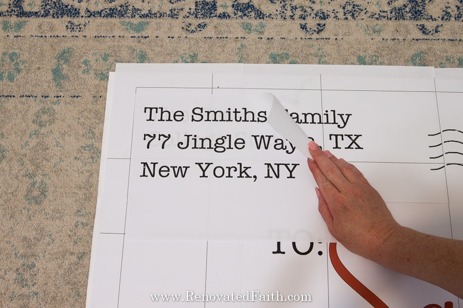 diy letter to santa sign