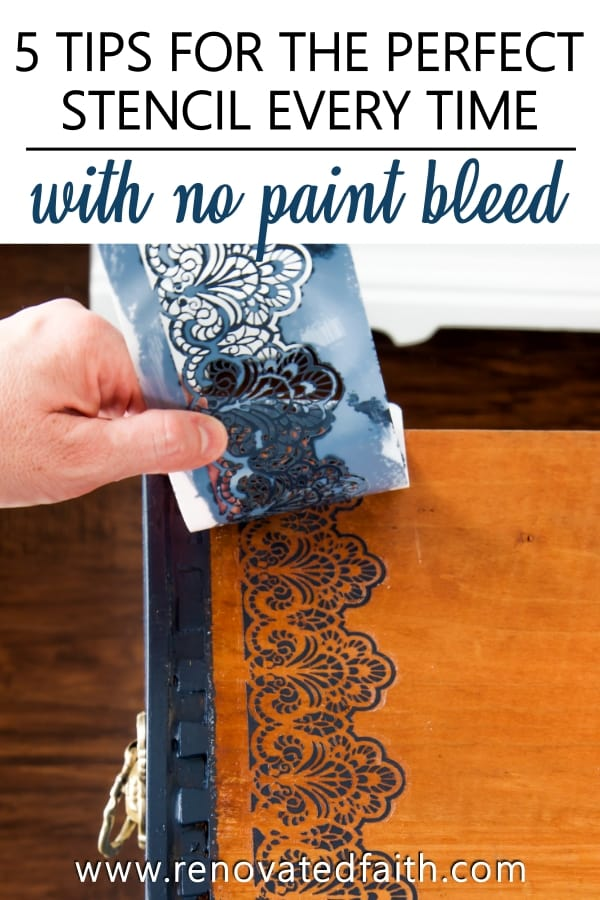 how to stencil on wood
