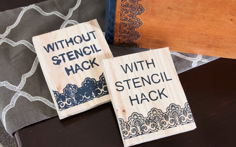 The Best Way to Stencil on Wood [Without Bleeding!]