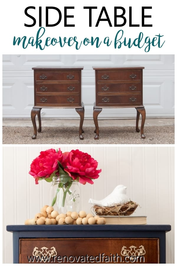 how to refinish a side table