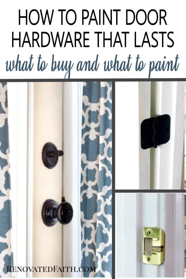 how to spray paint door knobs that last