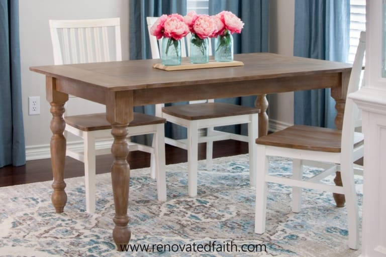 How To Build a Farmhouse Table (EASY Beginner's Guide With Video)