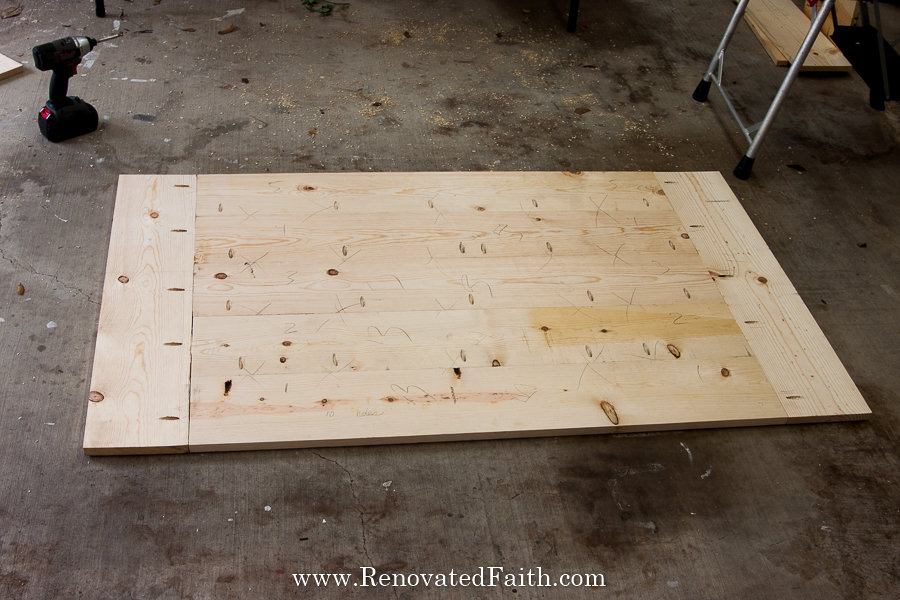 how to build a farmhouse table with pocket holes