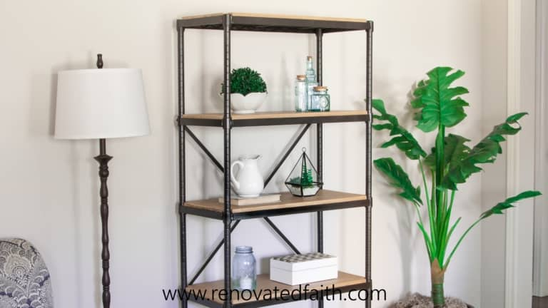 Super Easy DIY Industrial Shelves on a Budget (Wire Shelving Hack)