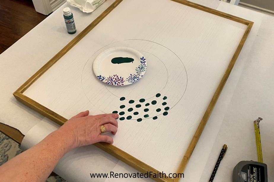 EASY Fingerprint Wreath Wall Art (Personalized With Your Family's Fingerprints)