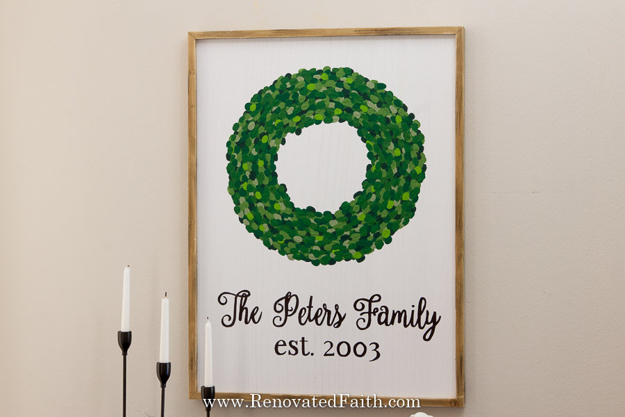 fingerprint wreath wall art