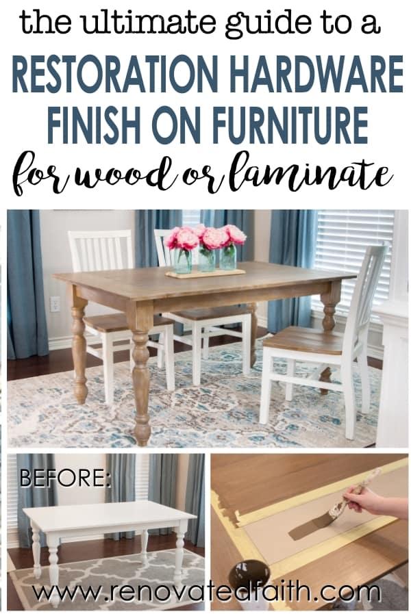 restoration hardware finish on furniture