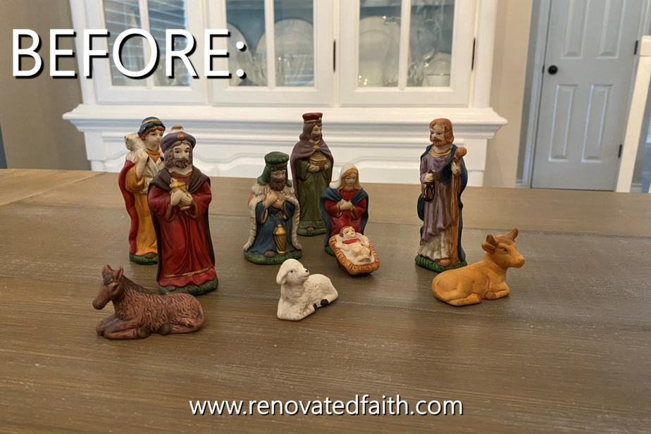 Vintage Nativity Scene Makeover