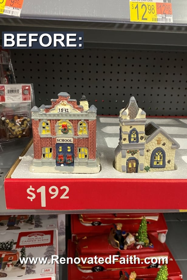 how to update a Christmas village with paint