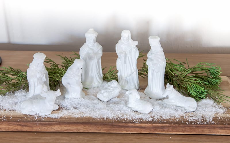 Give an Outdated Nativity Set a Stunning Makeover (Works With Christmas Villages, Too!)