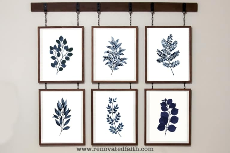 12 Free Blue Botanical Prints (FREE PRINTABLES)