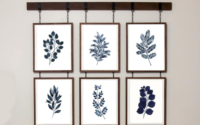 free blue fern printable