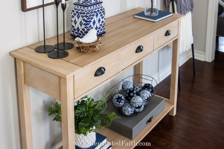 How To Create A Raw Wood Finish With Paint (No Stripping or Bleaching Required)