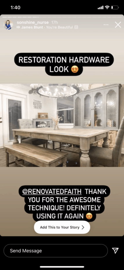 diy restoration hardware finish on furniture