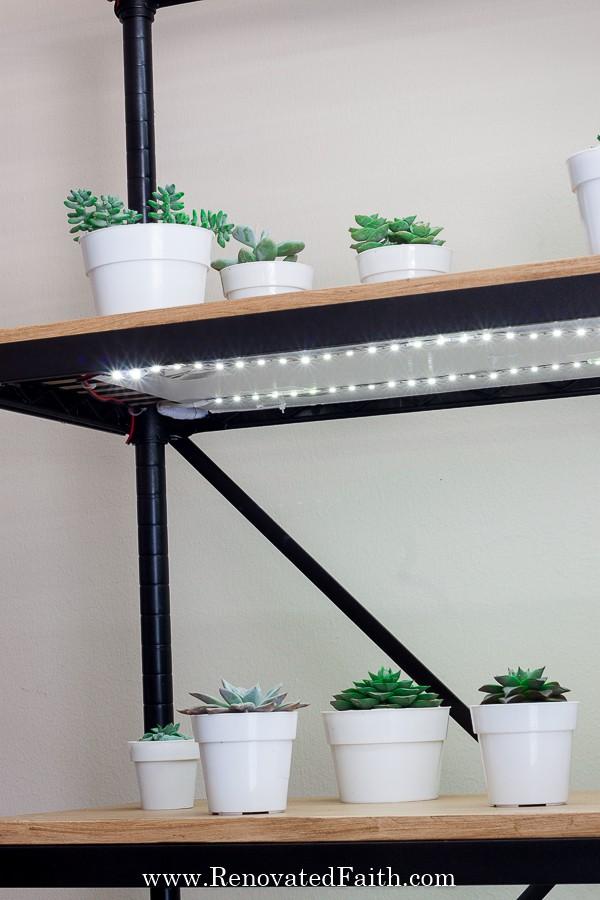 diy grow light stand