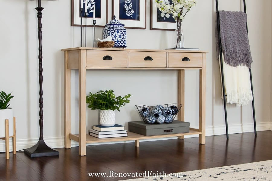 how to create a raw wood finish with paint