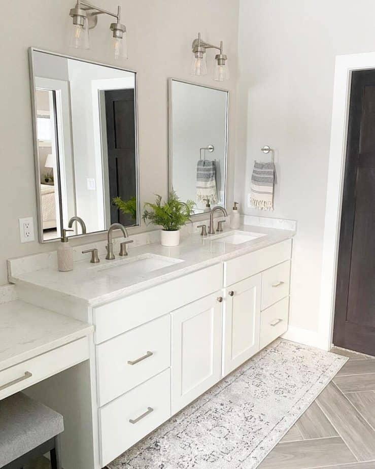 Sherwin Williams Agreeable Gray Master Bathroom