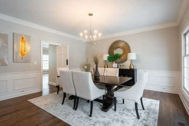 agreeable gray dining room from blue interior creatives