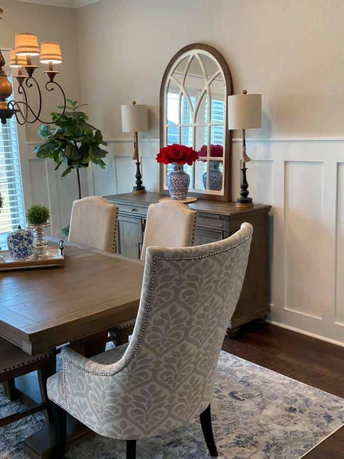 Sherwin williams agreeable gray with board and batten dining room