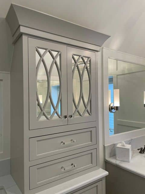 Sherwin Williams Agreeable Gray Cabinet