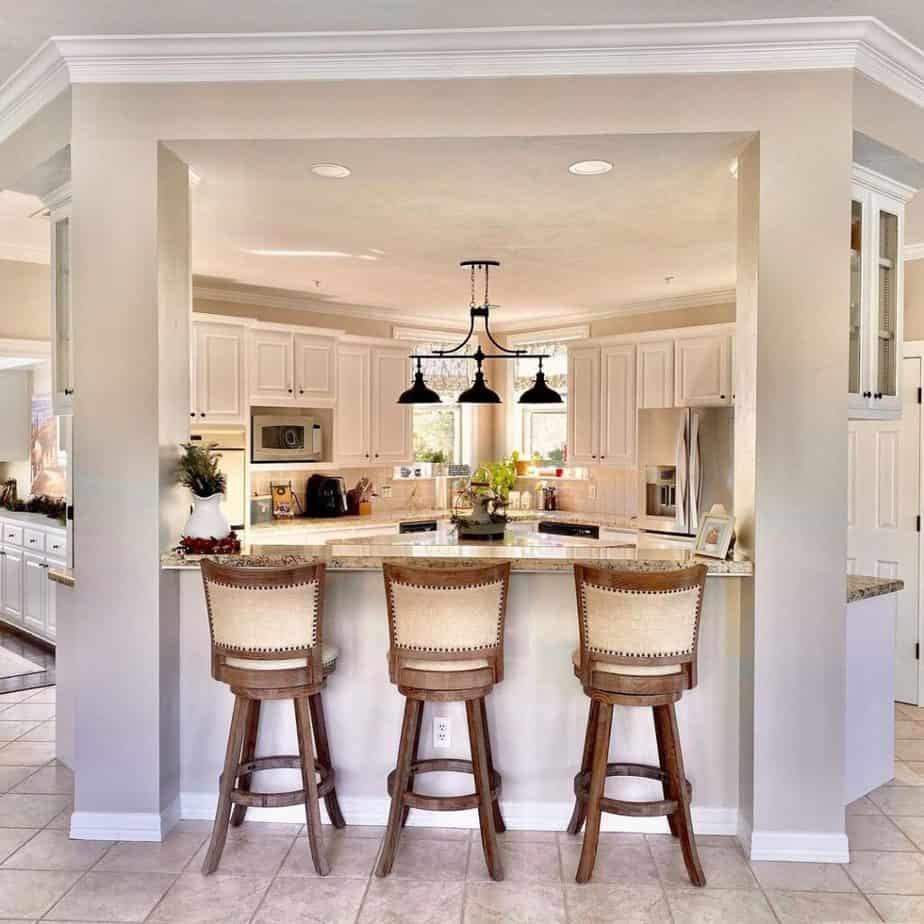 Sherwin williams agreeable gray kitchen walls