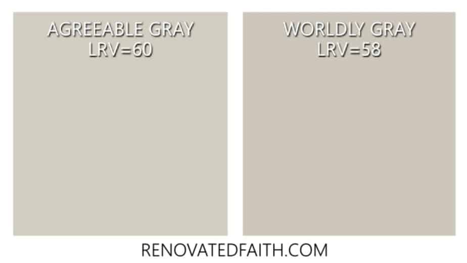 agreeable gray vs worldly gray