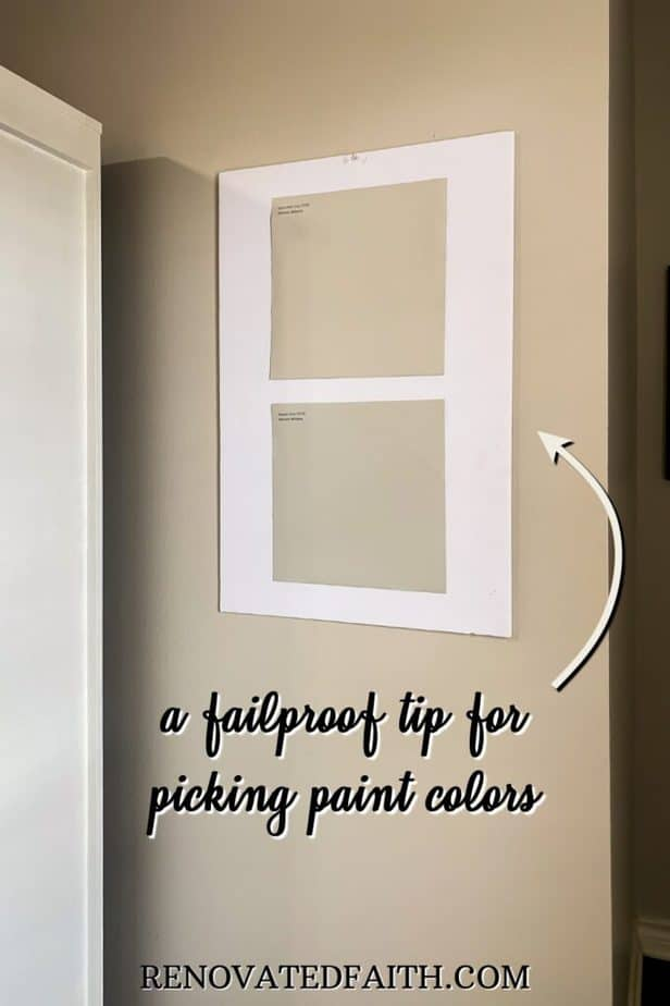 tip for picking a paint color