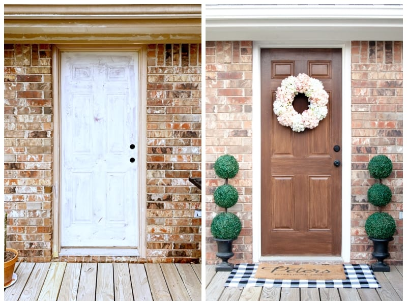 how to paint a door to look like wood