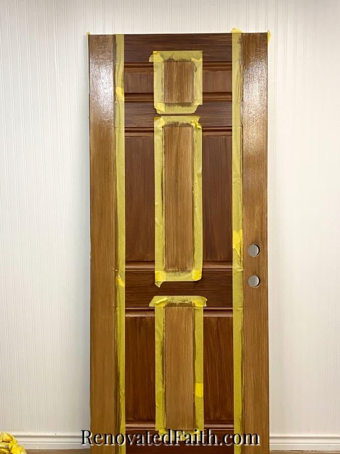 how to paint a door to look like woodgrain