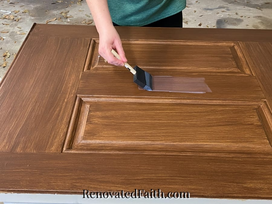 how to clear coat a painted door
