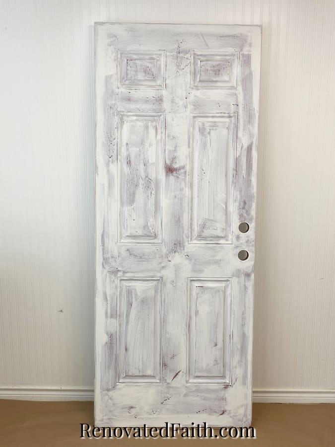 how to paint a door to look like wood grain