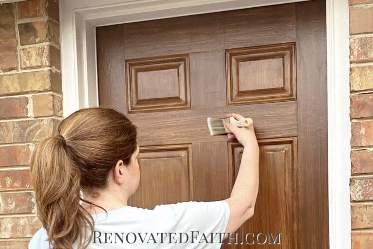 How To Paint a Door to Look Like Wood {7 Realistic Shade Options & Video Tutorial}