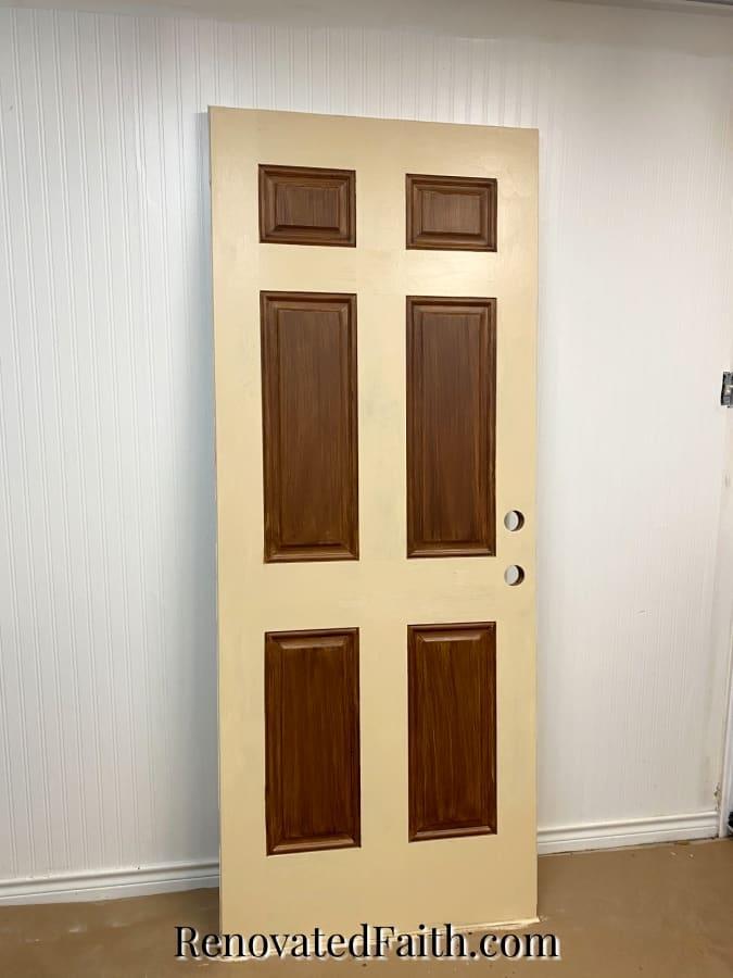 how to paint a metal door to look like wood grain
