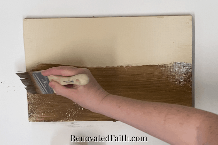 how to paint a door to look l ike wood video