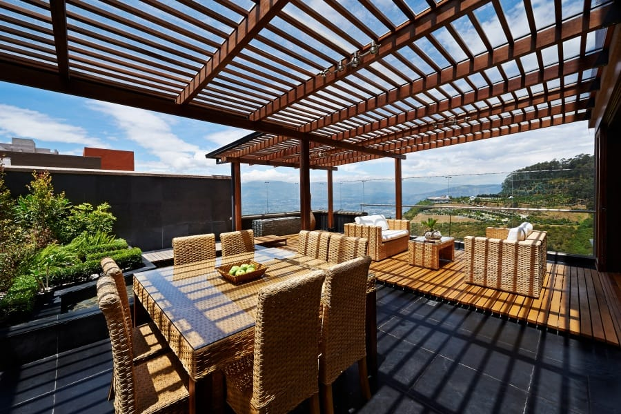 diy aluminum patio cover that looks like wood