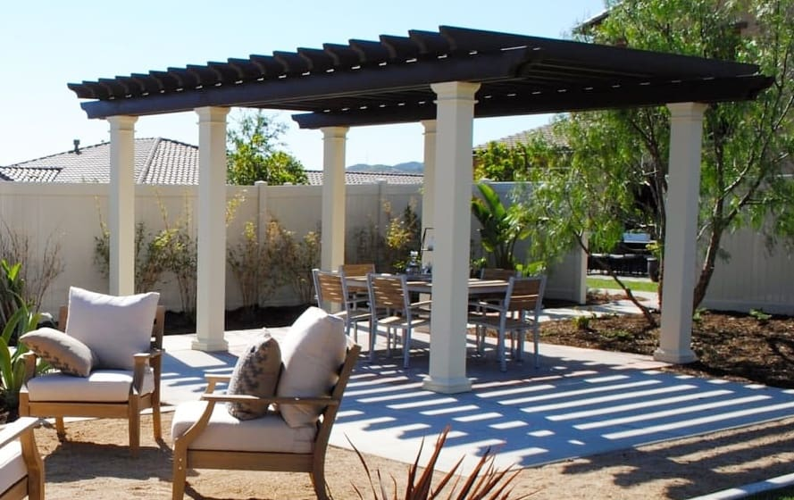 diy aluminum patio cover pergola