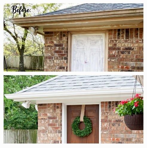 painting exterior trim, soffits, and fascias