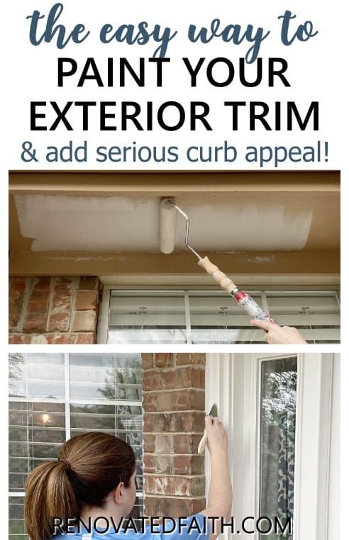 painting exterior trim, soffits and fascias