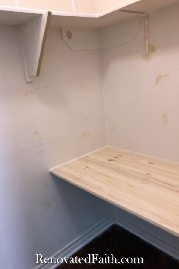 floating desk before refinishing