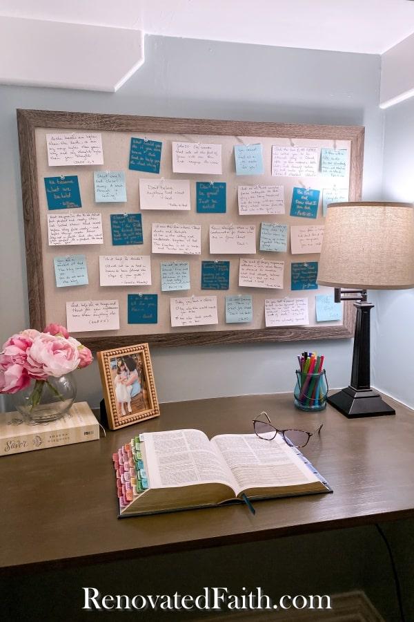 diy floating desk prayer closet