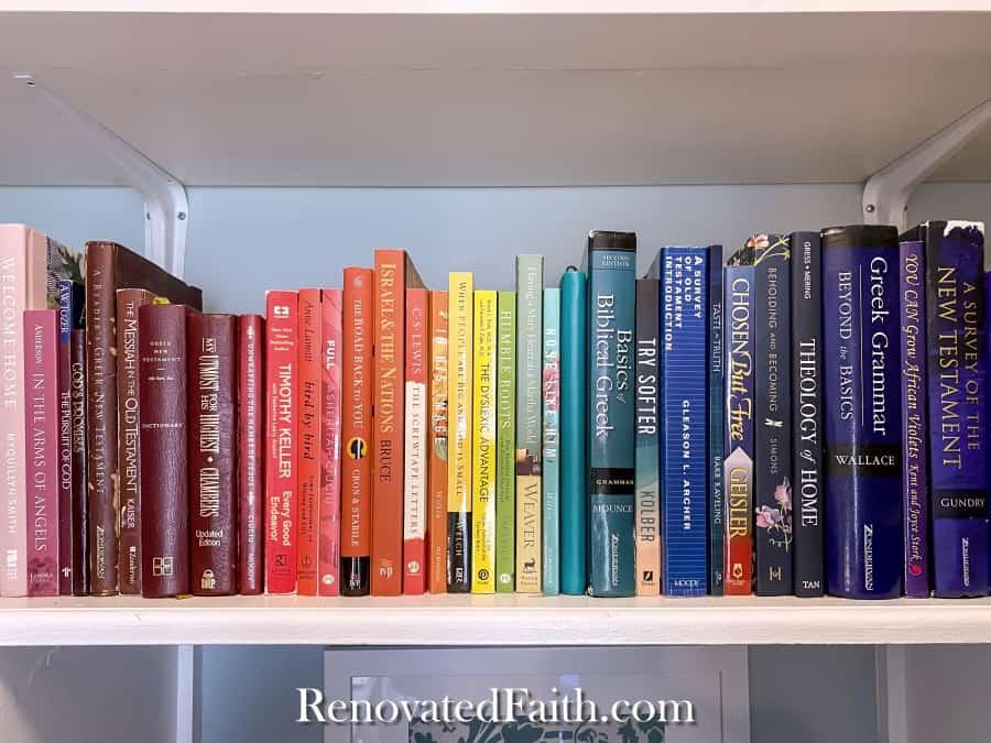 books in diy closet desk