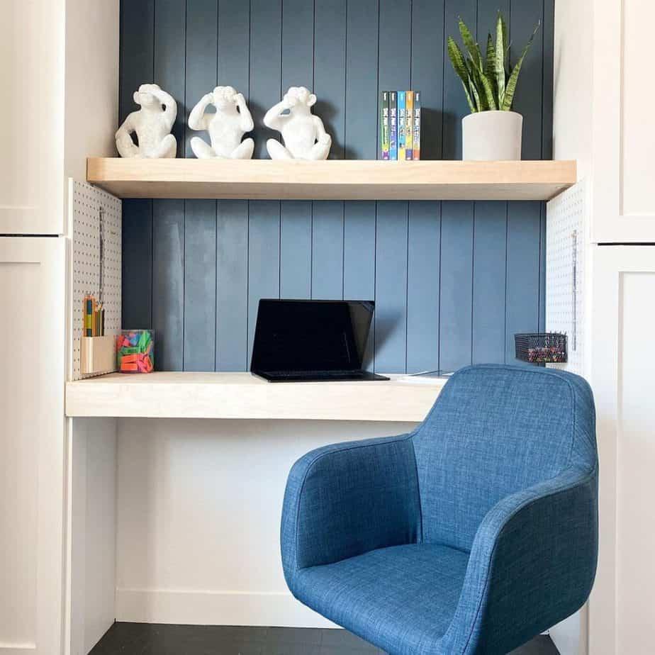 diy closet desk for homework