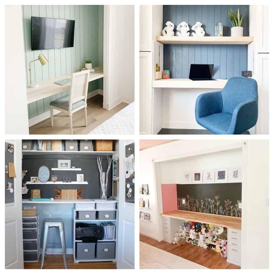 diy closet desk ideas
