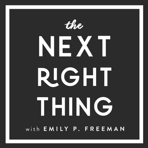 spiritual Christian podcast for women the next right thing